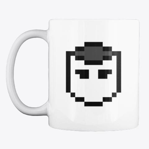 Patrick Pixel Art Symbol Mug White T-Shirt Front