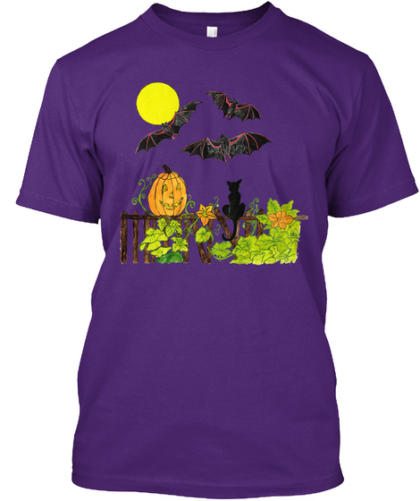 Halloween Night Purple T-Shirt Front