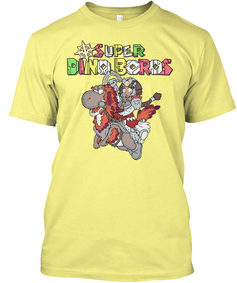 Super Dino Boros Lemon Yellow  T-Shirt Front