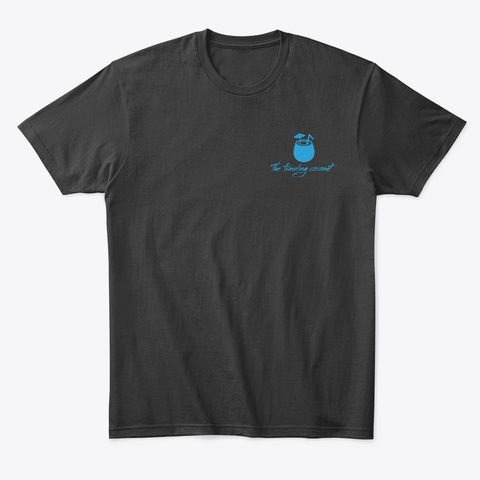 Coconut Tree Landscape Black T-Shirt Front