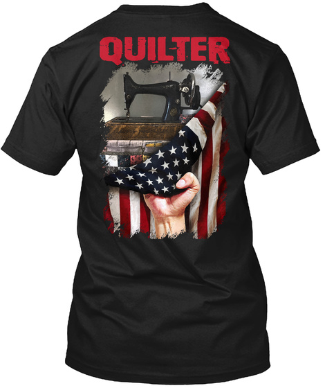 Quilter Black T-Shirt Back