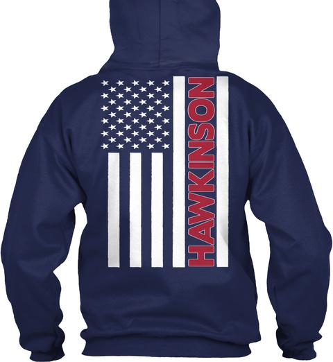 Hawkinson Navy T-Shirt Back