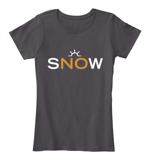 Snow Heathered Charcoal  T-Shirt Front