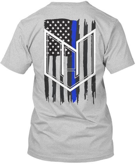 Wj Blue Line Light Steel T-Shirt Back