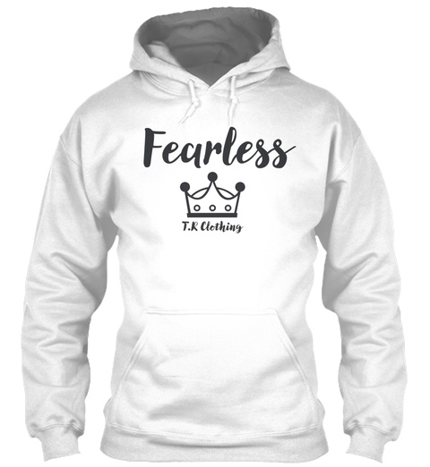 Fearless Crown Clothing White Sweatshirt Front