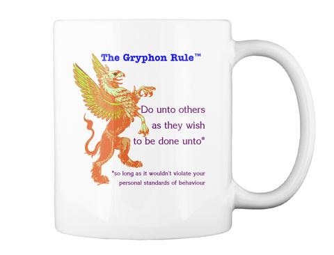 The Gryphon Rule White Mug Back