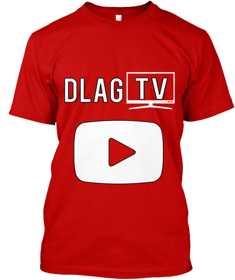 Dlag Tv Classic Red T-Shirt Front