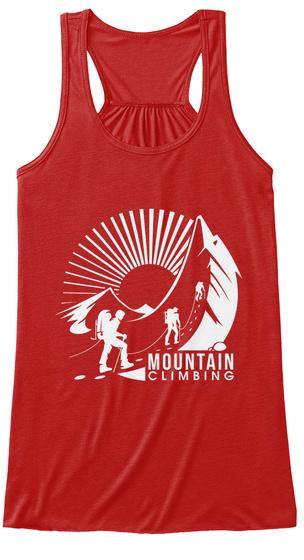 Mountain Climbing Red T-Shirt Front