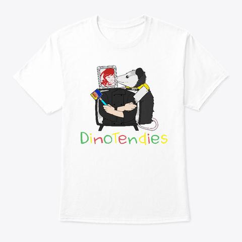 Dino Friends White T-Shirt Front