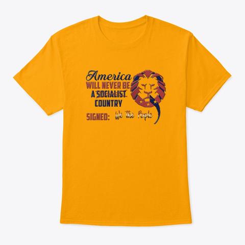 Don't Venezuela My America! Gold T-Shirt Front