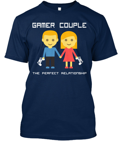 Gamer Couple The Perfect Relationship Navy T-Shirt Front