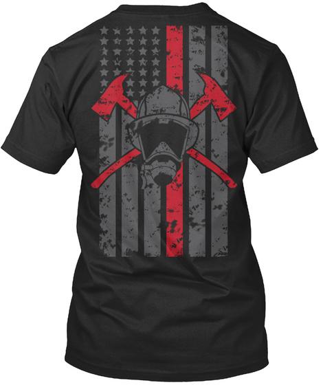 Face The Fear Firefighter T Shirt Black T-Shirt Back