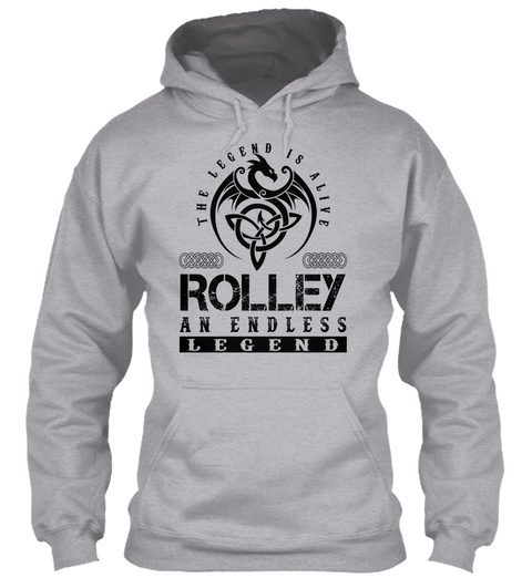 Rolley   Legends Alive Sport Grey T-Shirt Front