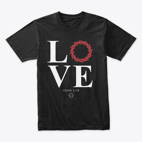 John 3:16 Treasure Of The Holy Bible Black T-Shirt Front