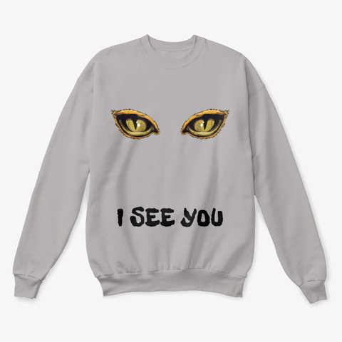 Funny Halloween Creepy Eyes I See You Light Steel  áo T-Shirt Front