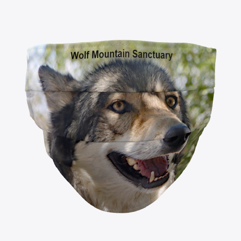 Holan Wolf Mountain Sanctuary Mask & Mug Standard T-Shirt Front