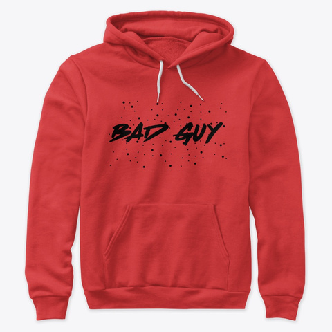 Bad Guy Red T-Shirt Front
