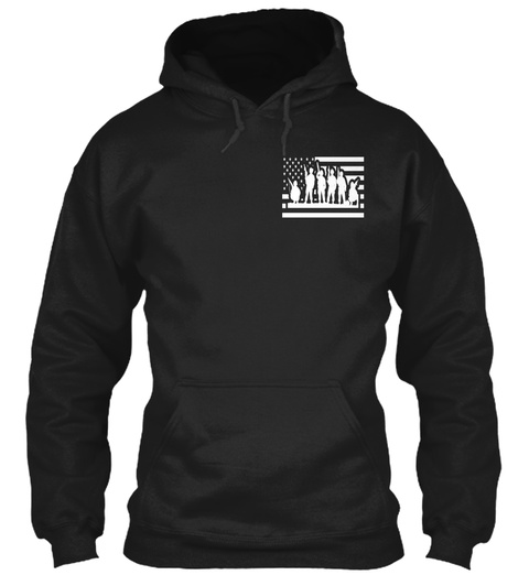 Military Red Friday Shirt   Hoodie Black T-Shirt Front