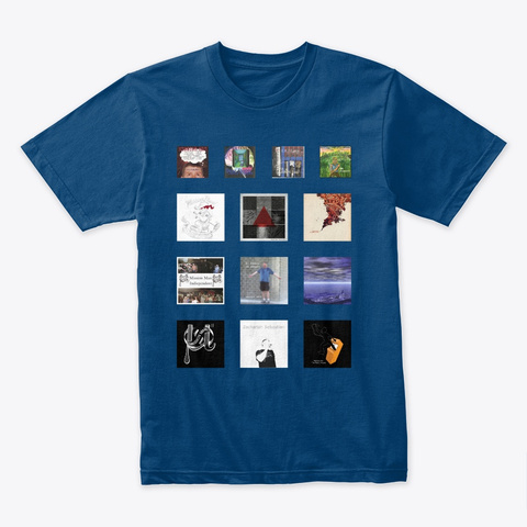 Mission Man Discography Apparel Cool Blue T-Shirt Front