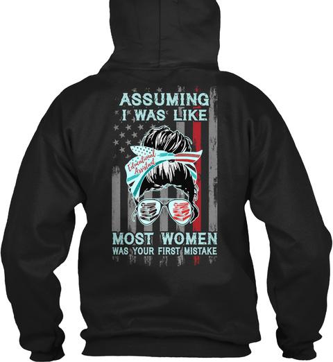 Educational Assistant Not Like Mostwomen Black T-Shirt Back