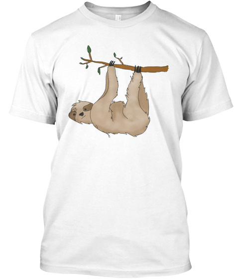 Sloth White T-Shirt Front