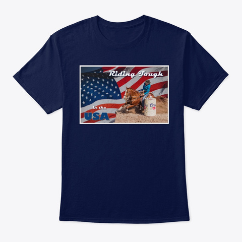 Riding Tough In The Usa Navy T-Shirt Front