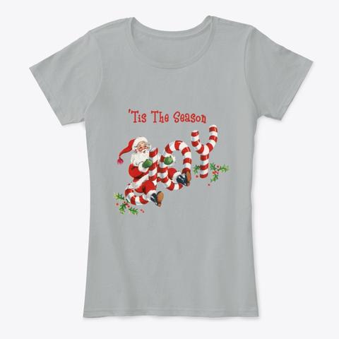 'tis The Season, Old Style  Santa & Joy Grey T-Shirt Front