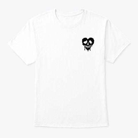 Love Is Poison(White) White T-Shirt Front