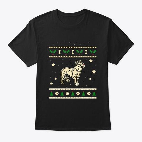 Christmas Australian Cattle Dog Gift Black T-Shirt Front