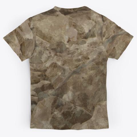 Desert Camo Unisex Jersey Standard T-Shirt Back