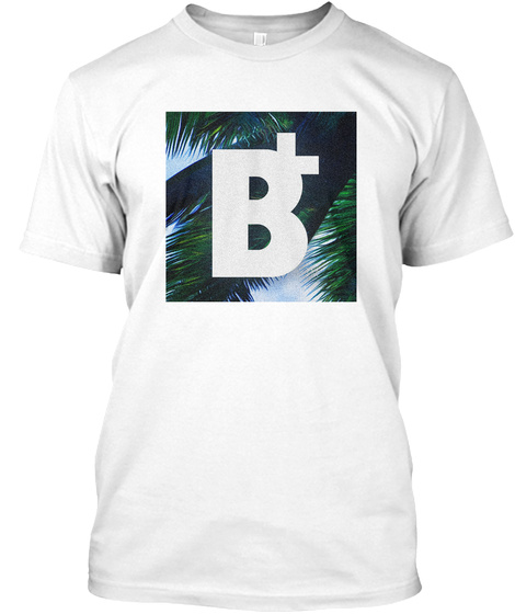 B+ Palm Trees White T-Shirt Front