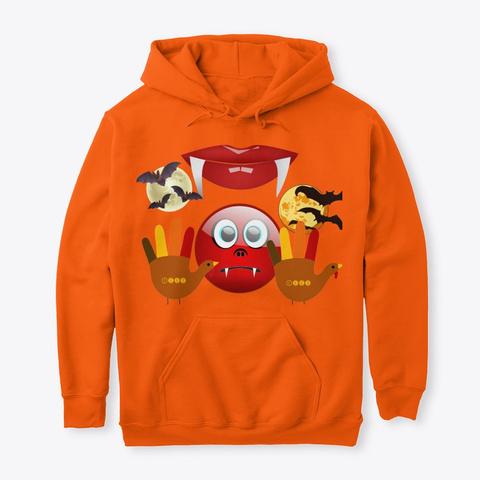 Halloween  Safety Orange T-Shirt Front