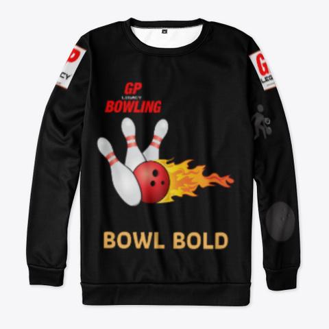 Bowl Bold / Dark Black T-Shirt Front