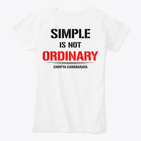 Chintya Candranaya White T-Shirt Back