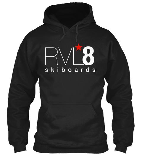 Rvl*8 Skiboards Black T-Shirt Front