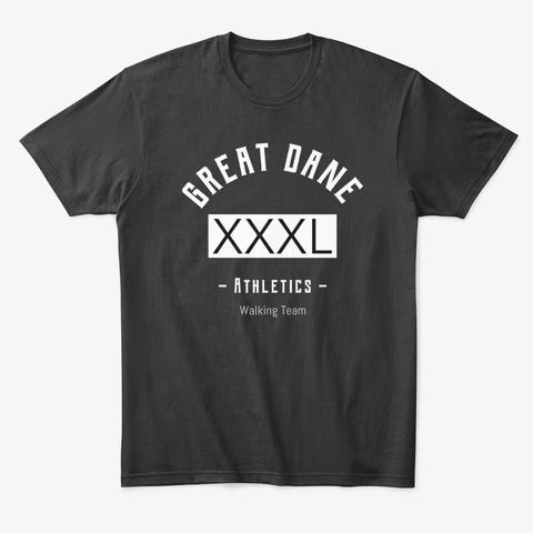 Great Dane Athletics Walking Team Ii Black T-Shirt Front