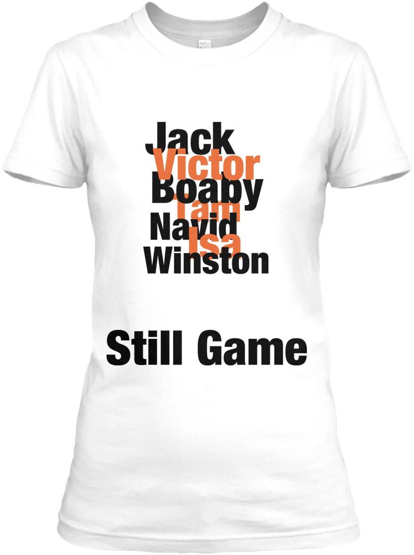 New Black Still Game Navid Harrid T-Shirt Jack Jarvis Victor McDade Craiglang