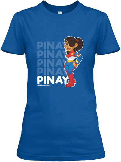 Pinay Racer Royal T-Shirt Front