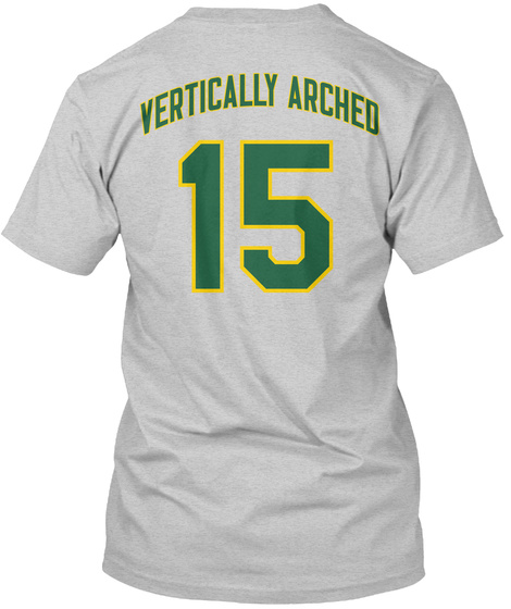 Vertically Arched 15 Light Steel T-Shirt Back