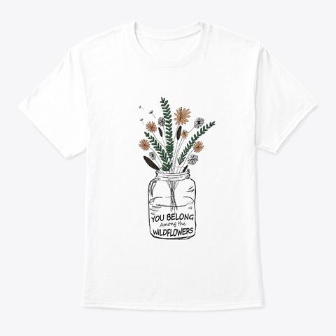 Flower Children   Hippie Costume White T-Shirt Front