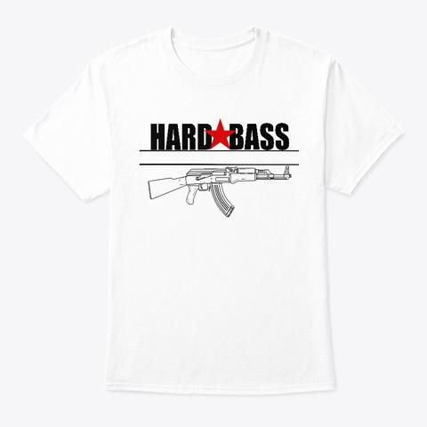 Hardbass   Adibas  Ak47 / Russia White T-Shirt Front