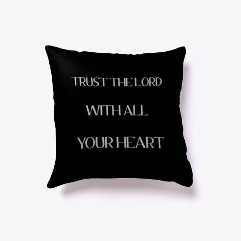 Trust The Lord Black T-Shirt Front