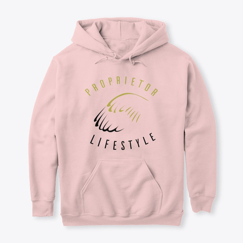 New Year's Ball Hoodie Light Pink Sweatshirt Front