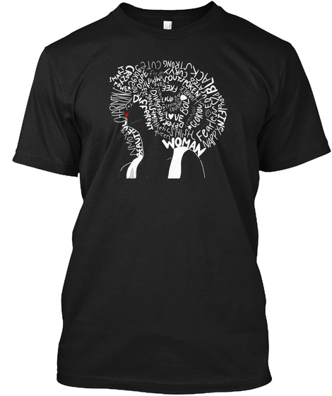 Woman Black T-Shirt Front