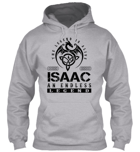 Isaac   Legends Alive Sport Grey T-Shirt Front