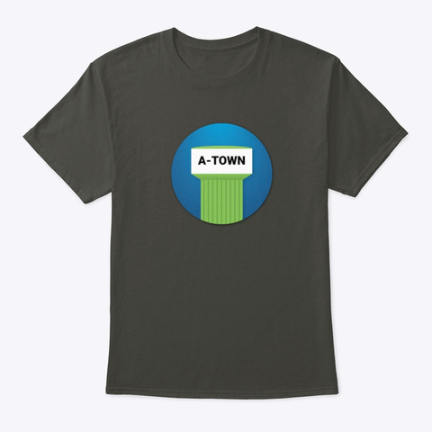 A Town Smoke Gray T-Shirt Front