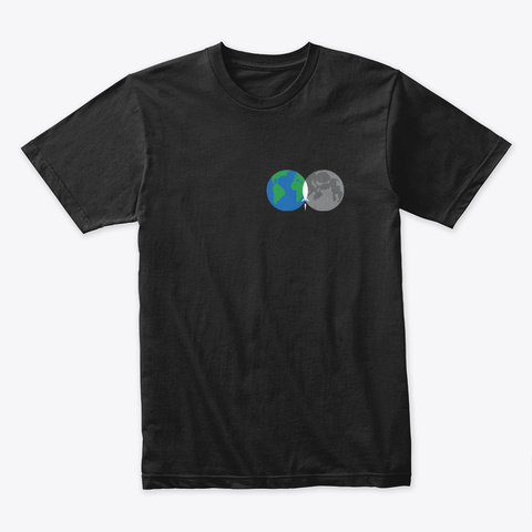 From Earth To Moon 🚀 #Sfsf Black T-Shirt Front