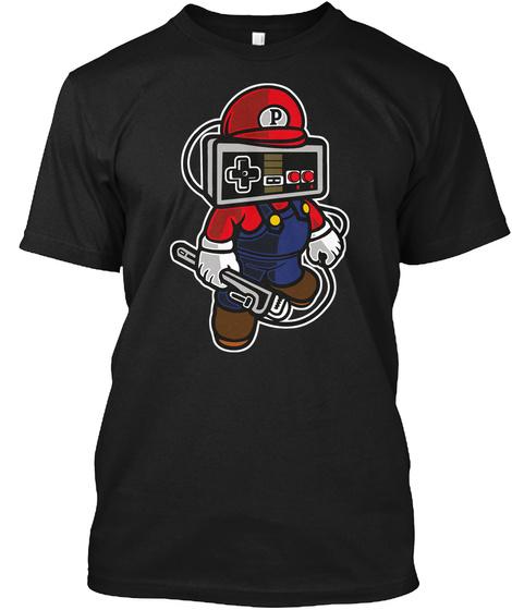 Gamer Controller Video Game Tshirt Black T-Shirt Front
