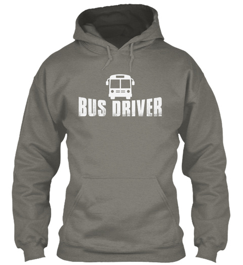 This Bus Driver Has Anger Issues Charcoal T-Shirt Front