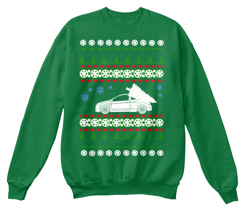 Focus Rs Ugly Christmas Sweater  Kelly Green  T-Shirt Front